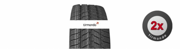 2x 205/70R15 CONTINENTAL VANCONTACTWINTER 106