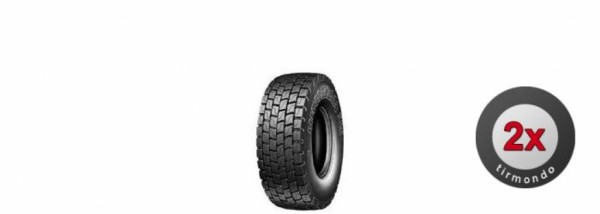 2x 12R22.5 MICHELIN XDE2